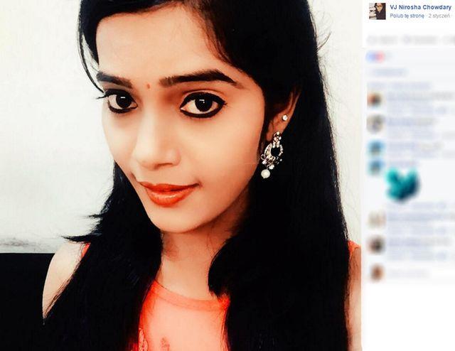 Nirosha Chowdary: Sławna prezenterka popełniła samobójstwo!