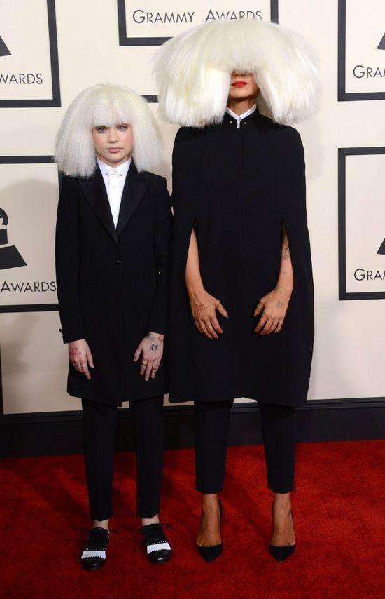 Sia i Maddie Ziegler na rozdaniu Grammy