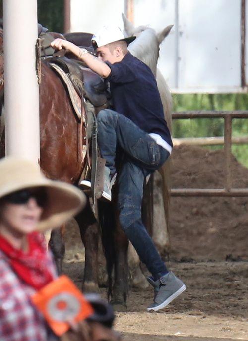 Justin Bieber na koniu (FOTO)