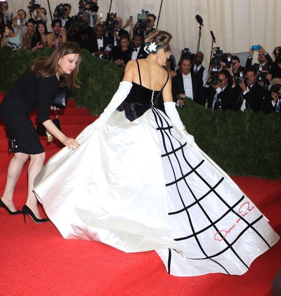 Sarah Jessica Parker, gala Met 2014, w sukni Oscar de la Renta