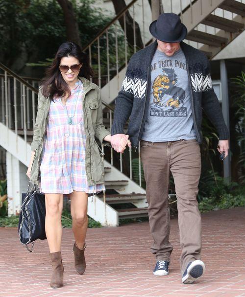 Channing Tatum nie odstępuje ciężarnej żony na krok (FOTO)