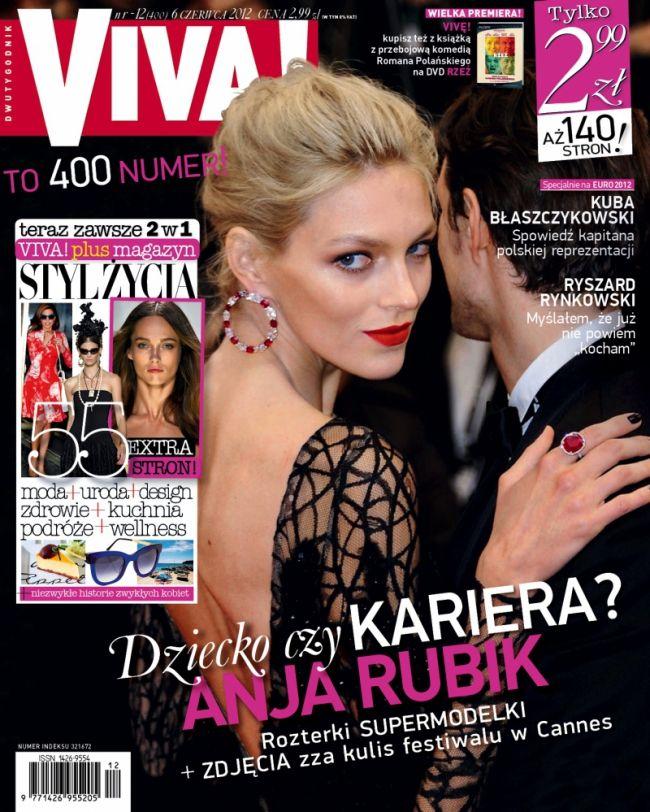 Anja Rubik z mężem na okładce Vivy! (FOTO)