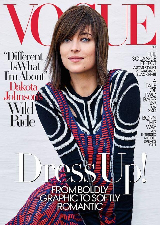 Dakota bez doczepów na okładce Vogue'a. Jak wyglądają jej naturalne włosy?