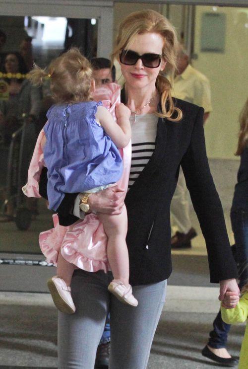 Nicole Kidman z rodziną