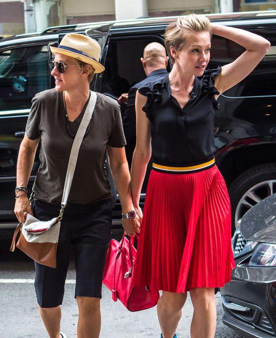 Ellen Degeneres i Portia de Rossi w Nowym Jrku, czerwiec 2014