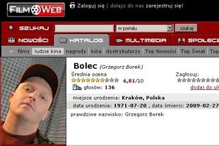 Grzegorz Borek (Bolec) nie żyje