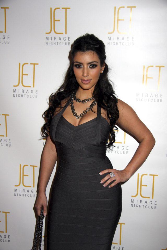 Kim Kardashian na początku celebryckiej kariery