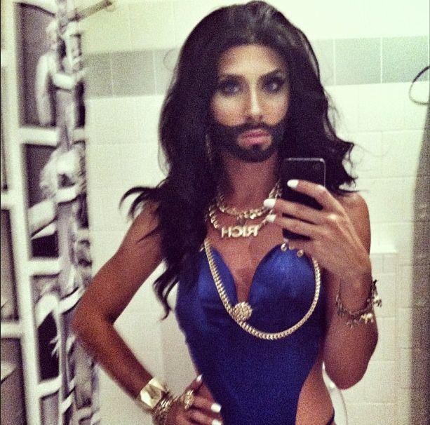 Conchita Wurst, kobieta z brodą, Instagram