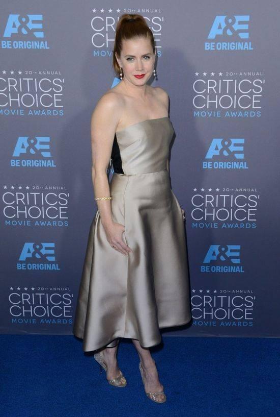 Amy Adams w srebrnej sukni na rozdaniu nagród Critics' Choice Awards