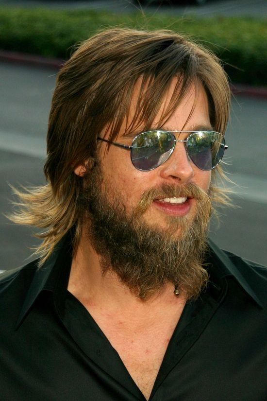 Brad Pitt w 2002 roku nosił sporą brodę