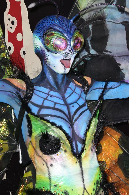 Heidi Klum jako motyl w 2014 roku