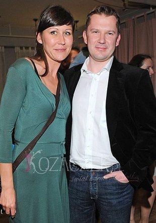 Grzegorz Kajdanowicz z żoną na premierze (FOTO)