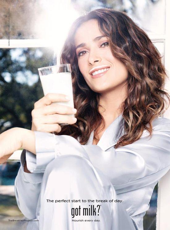 Selma Hayek w kampani Got Milk (FOTO)