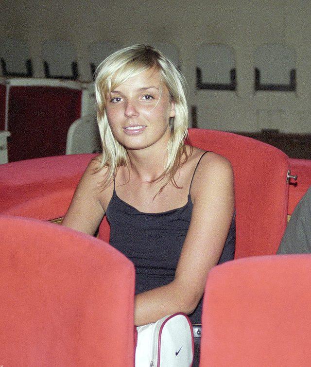 Agnieszka Włodarczyk na początku kariery jako blondynka