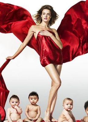 Natalia Vodianova w kampanii wspierającej walkę z AIDS