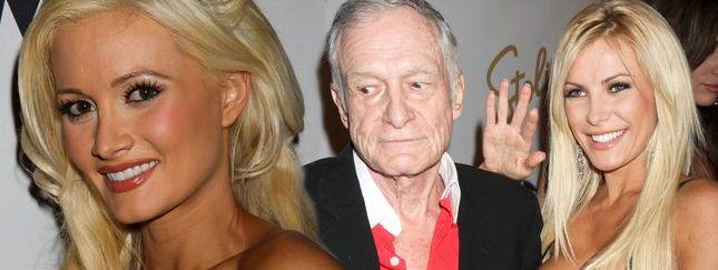 Hugh Hefner z obecną i ex dziewczyną (FOTO)