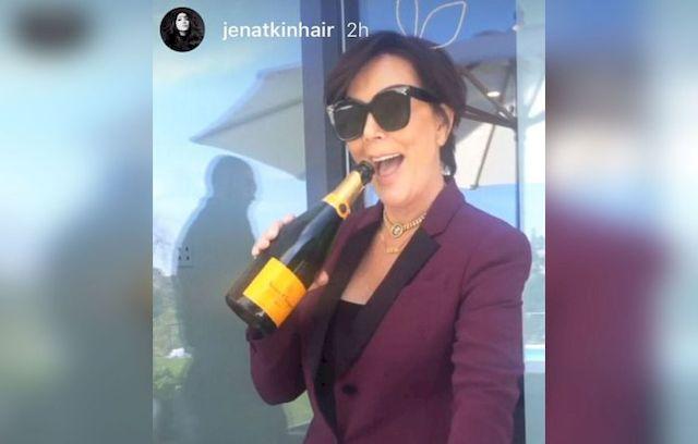 Kris Jenner UPIŁA SIĘ przed dziećmi Kim Kardashian!