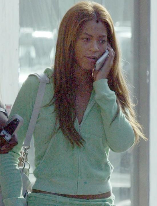 Beyonce bez makijażu - 2003 r.