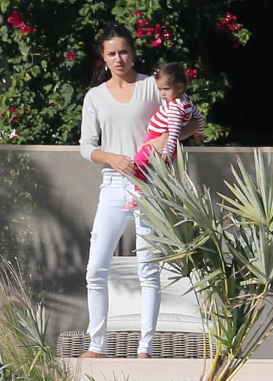 Adriana Lima z córeczką Sienną