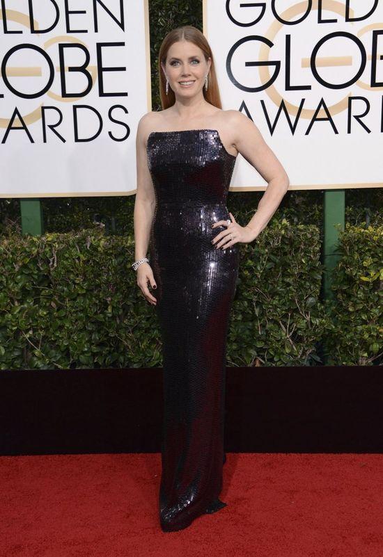 Amy Adams na rozdaniu Złotych Globów 2017