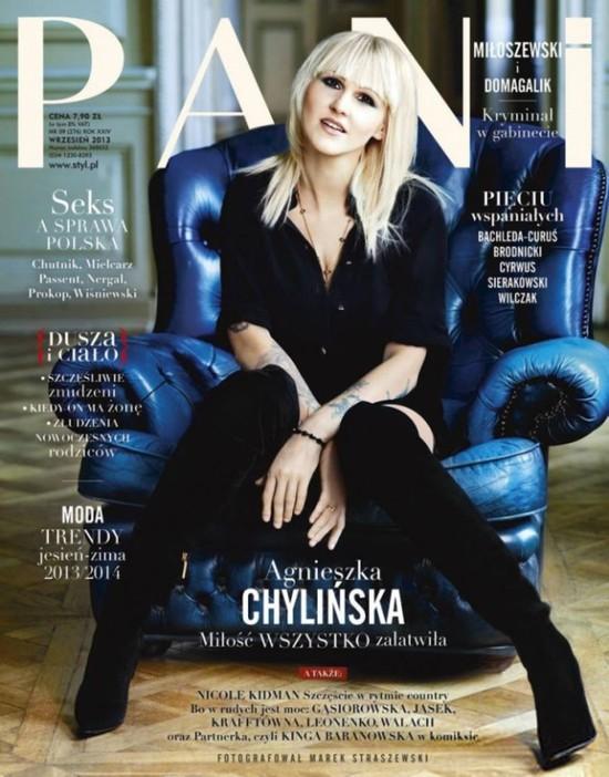 Agnieszka Chylińska w Pani: Czytam Żywoty świętych (FOTO)