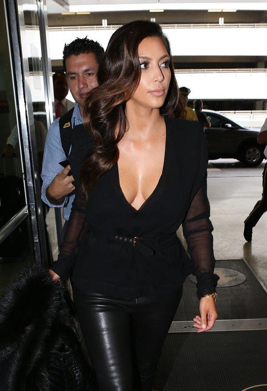 Kim Kardashian na lotnisku
