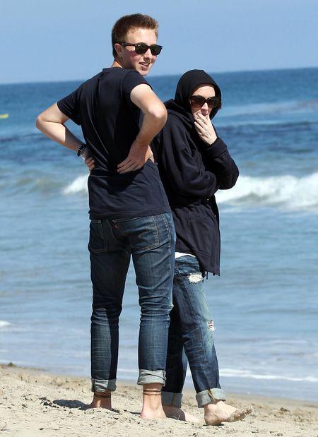 Winona Ryder na plaży