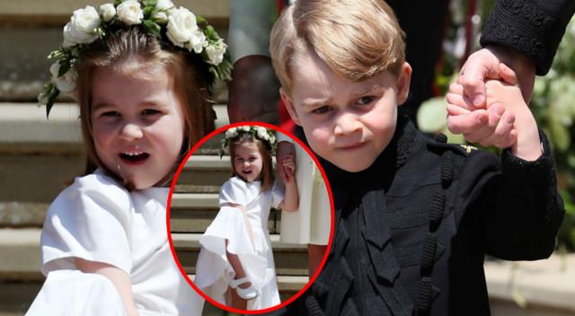 Wygibasy księżniczki Charlotte skradły uroczystość zaślubin Meghan i księcia Harry'ego