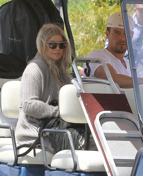 Fergie ju� nie udaje si� ukry� ci��owego brzuszka (FOTO)