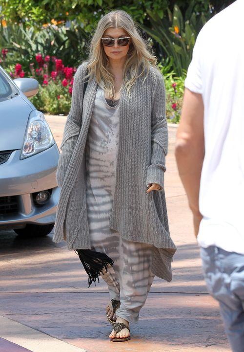 Fergie już nie udaje się ukryć ciążowego brzuszka (FOTO)
