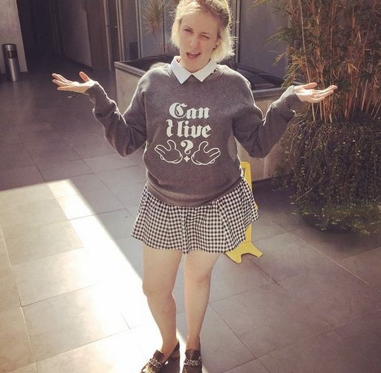 Lena Dunham na instagramie