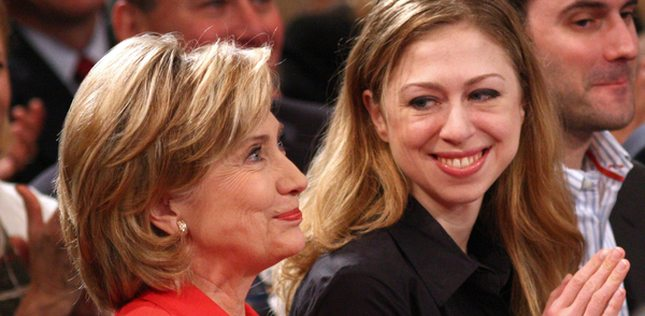 Chealsy Clinton - cały tatuś? (FOTO)