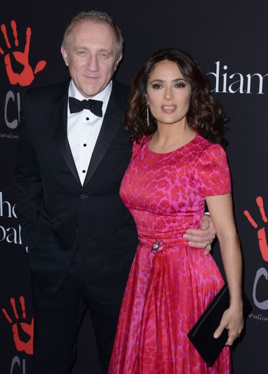 Salma Hayek i Francois-Henri Pinault na imprezie charytatywnej Rihanny