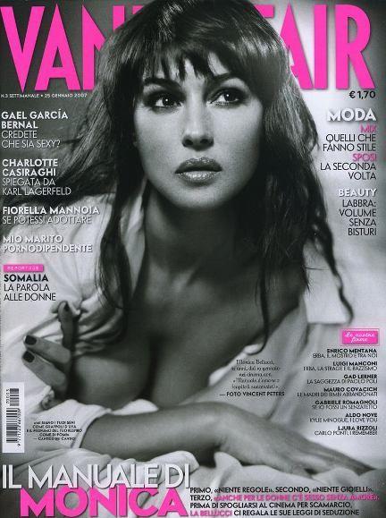 Monica Bellucci na okładkach Vanity Fair