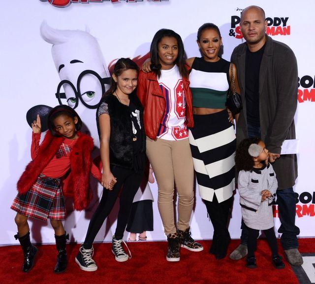 Mel B i Stephen Belafonte z rodziną