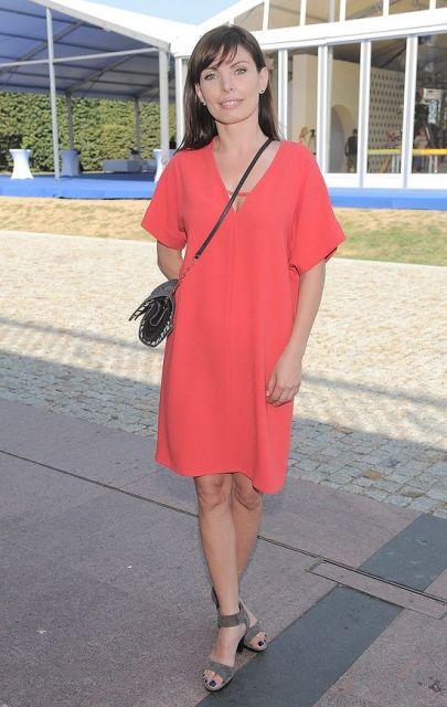 Agnieszka Dygant, czerwona sukienka