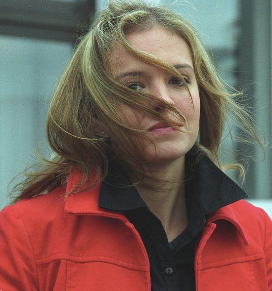 Anna Wendzikowska w blond włosach, 2002 rok
