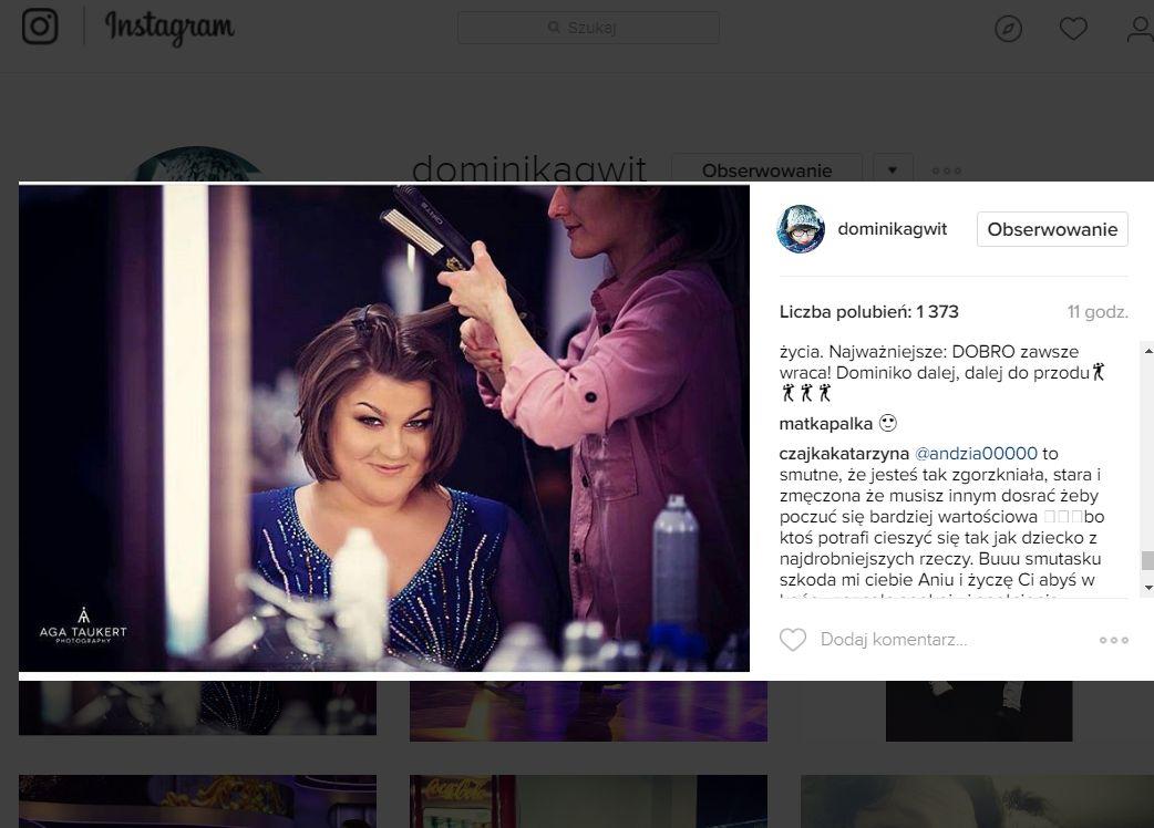 Gwit wrzuciła na Instagram znaczący wpis po komentarzu Beaty Tyszkiewicz
