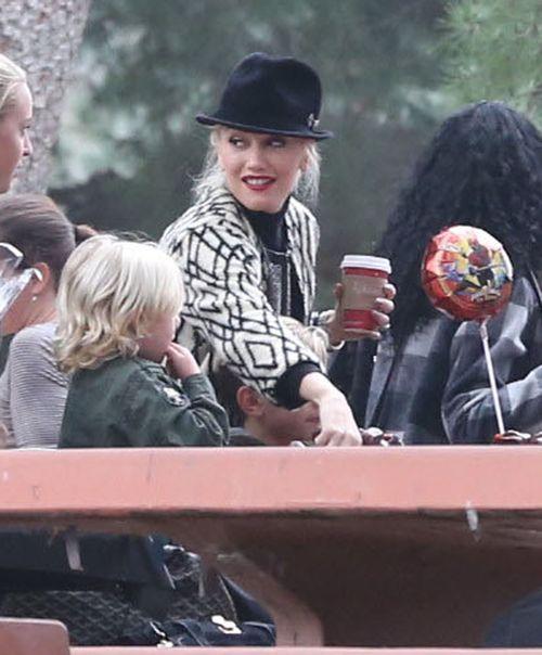 Gwen Stefani z rodziną