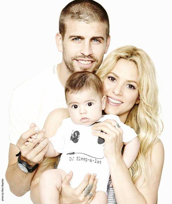 Shakira i Gerard Pique na fotografii z synkiem Milanem (FOTO)