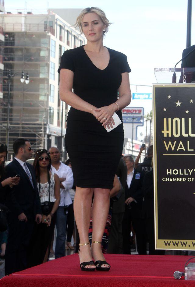Kate Winslet odsłania swoją gwiazdę w Walk of Fame.