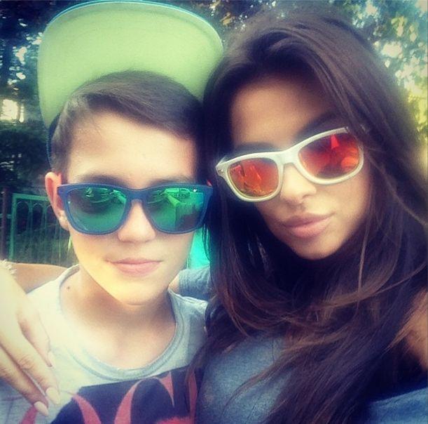 Natalia Siwiec z synem męża