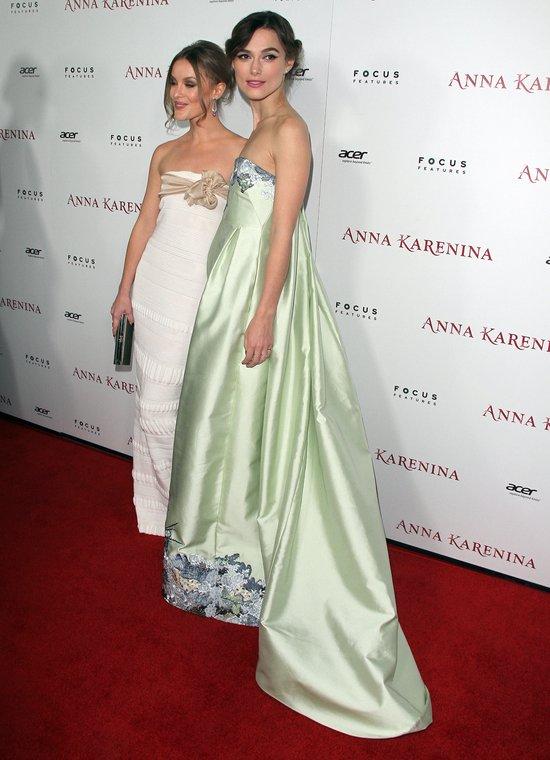 Keira Knightley na premierze Anny Kareniny w Los Angeles