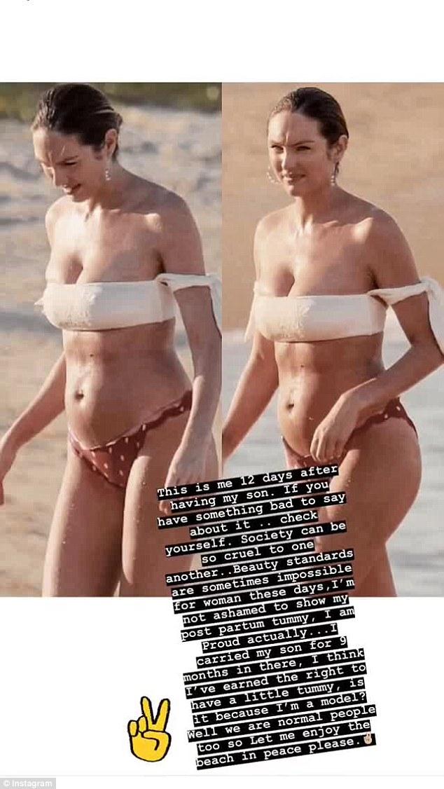 12 dni po porodzie Candice Swanepoel HEJTOWANA za duży brzuch