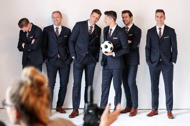 Polscy piłkarze reprezentacji w sesji Vistuli