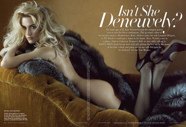 Kate Winslet, futro i Vanity Fair