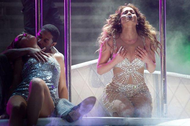 Jennifer Lopez na scenie w Szanghaju