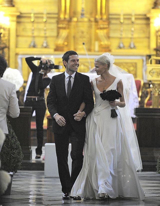 Małgorzata Kożuchowska i Bartłomiej Wróblewski pobrali się 30 VIII 2008 roku