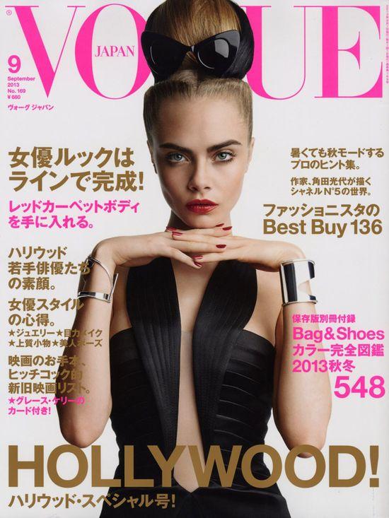 Cara Delevingne na okładkach Vogue'a