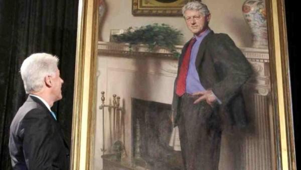 Na portrecie Billa Clintona ukryła się Monica Lewinsky